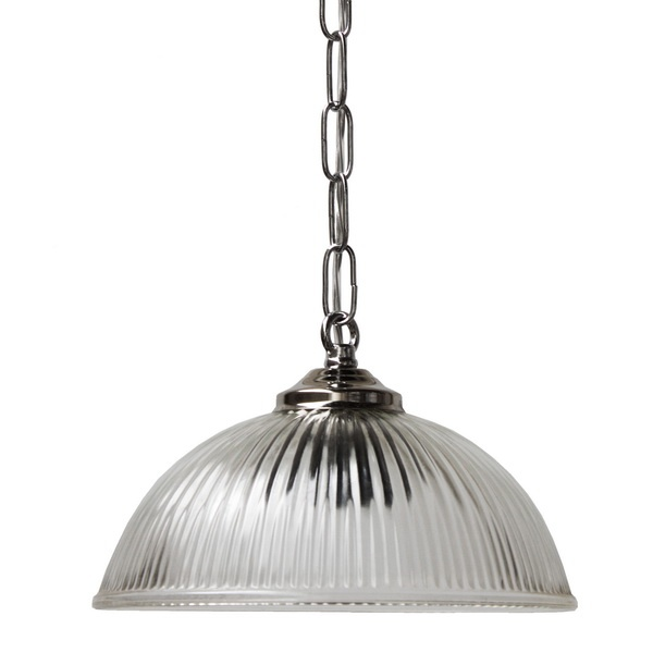 Industrial Style Ceiling Pendant Light Chrome Halophane