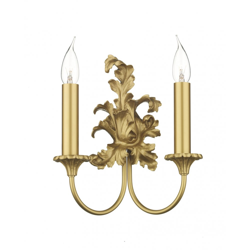 Gold Candle Wall Lights : Rococo Georgian or Regency Period Double Gold Candle Wall Light