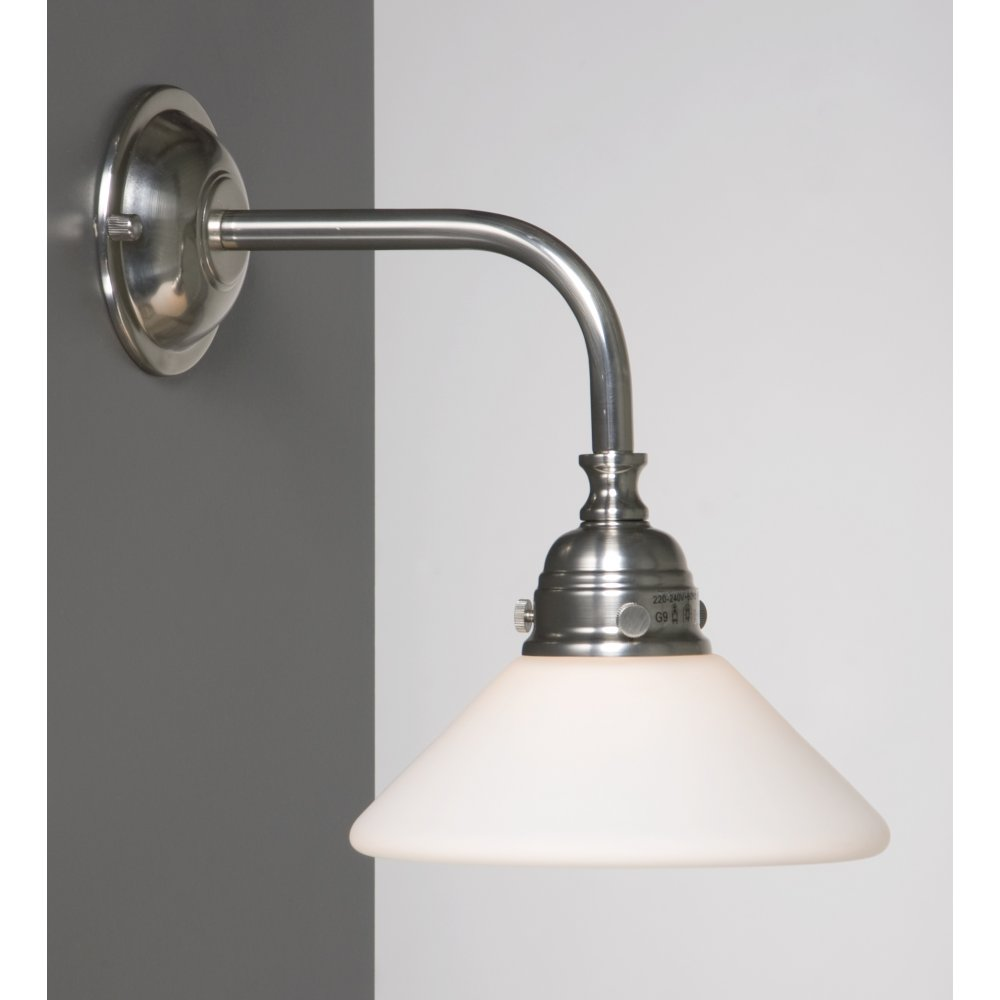 Wall Lights For Shower Room : Victorian or Edwardian Period Bathroom Wall Light, Satin Nickel Finish