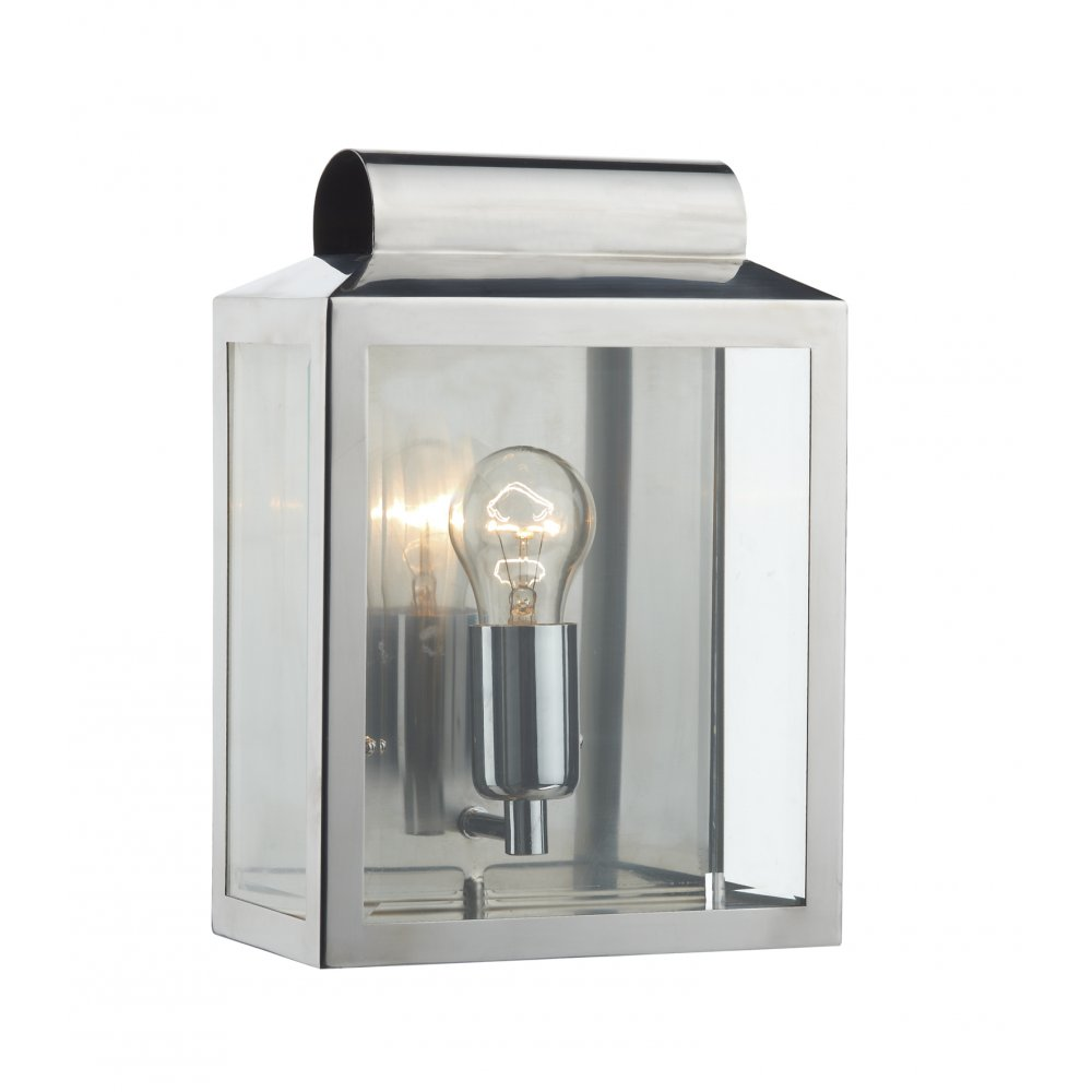 Wall Lantern Indoor : Stainless Steel Wall Lantern IP44 Outdoor or Indoor Wall Light