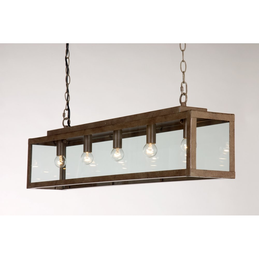 Rustic Drop Down Ceiling Pendant Light For Over Table Or Kitchen Island