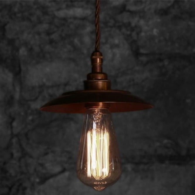Vintage Steampunk Ceiling Pendant Light Uses Edison Filament Bulbs