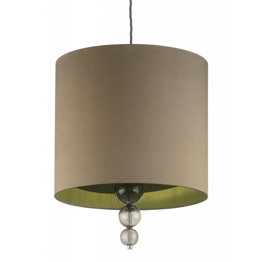 Alette Smoke Hanging Ceiling Pendant Light, Green Gold