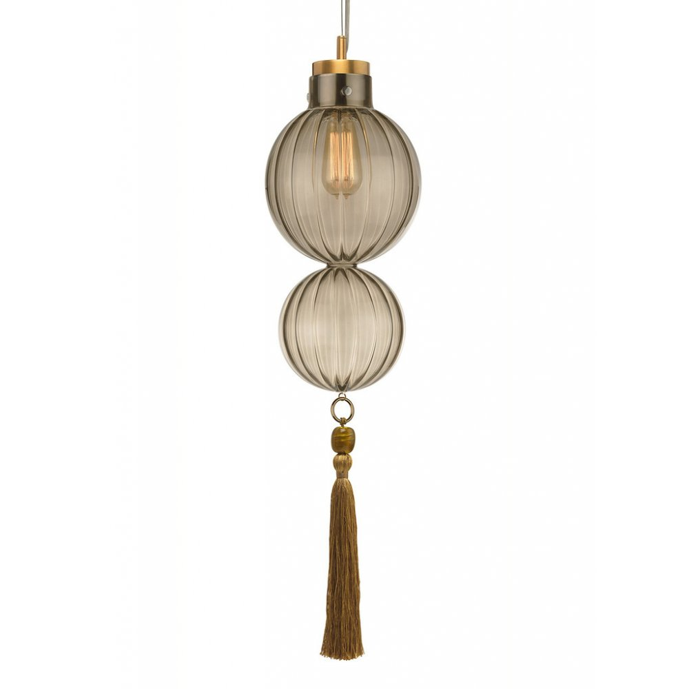 Smoked Glass Hanging Ceiling Pendant Light, Moroccan Style