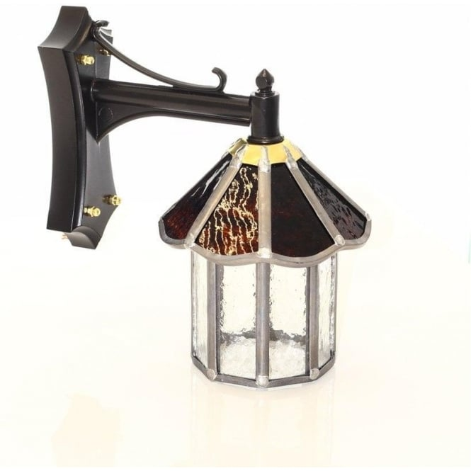 Somerset Outdoor Lighting Collection EXFORD leaded stained glass outdoor wall lantern