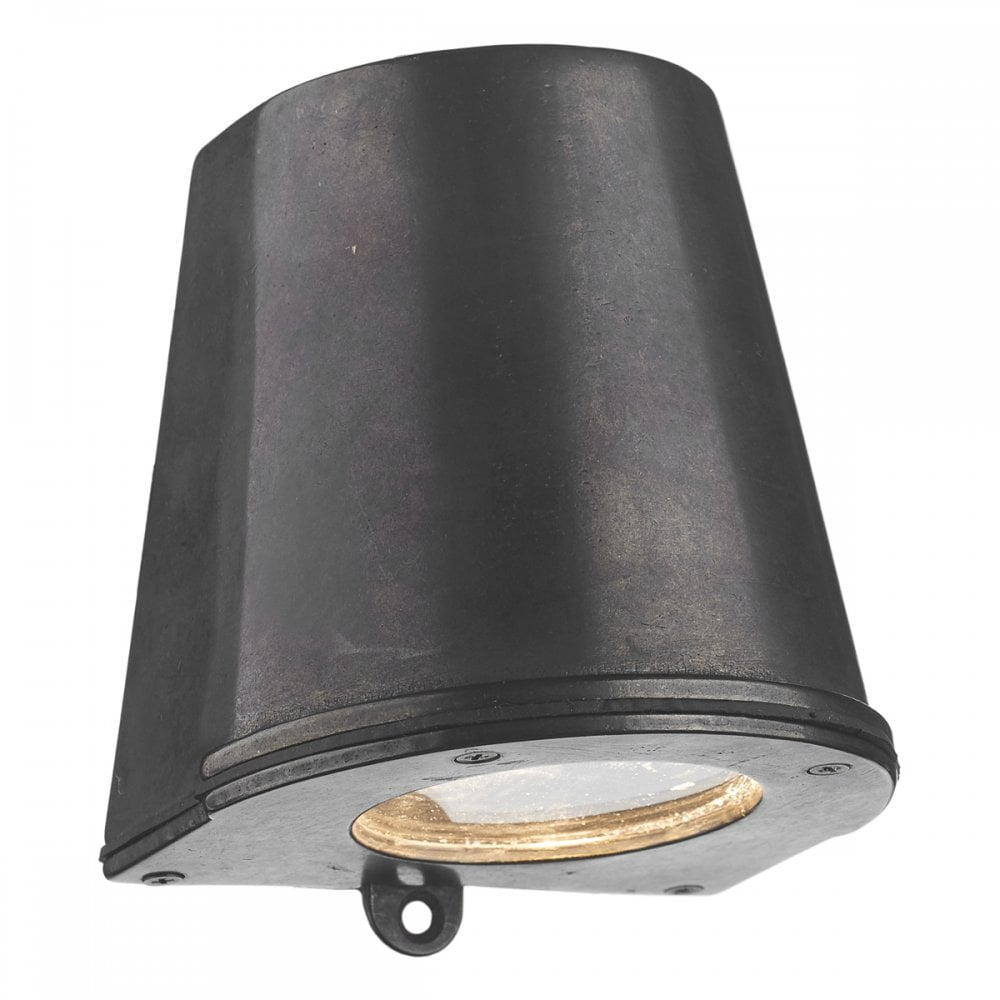 Outside Wall Light In Oxidised Finish Fits Flush With Down Facing Light