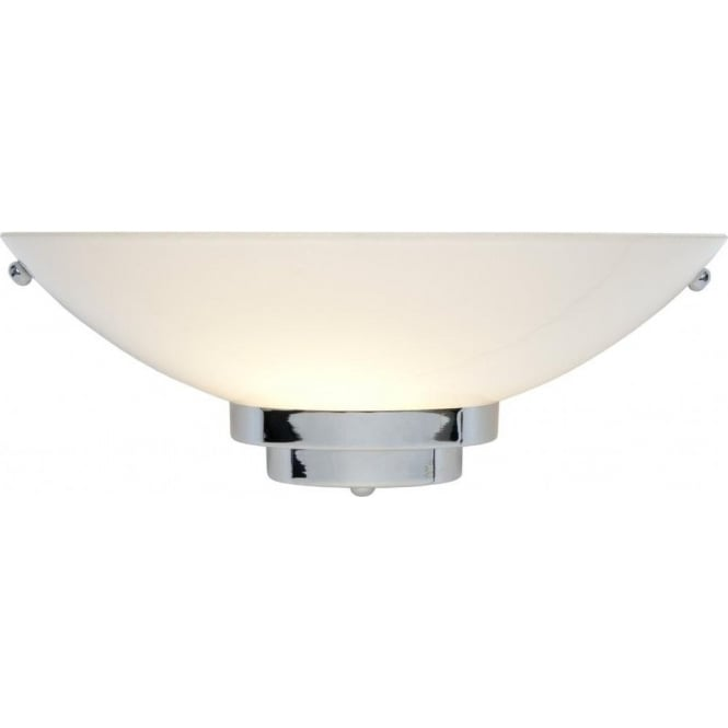 wholesale dealer 139b3 1411c STRATTON Art Deco chrome wall washer wall light with white glass shade