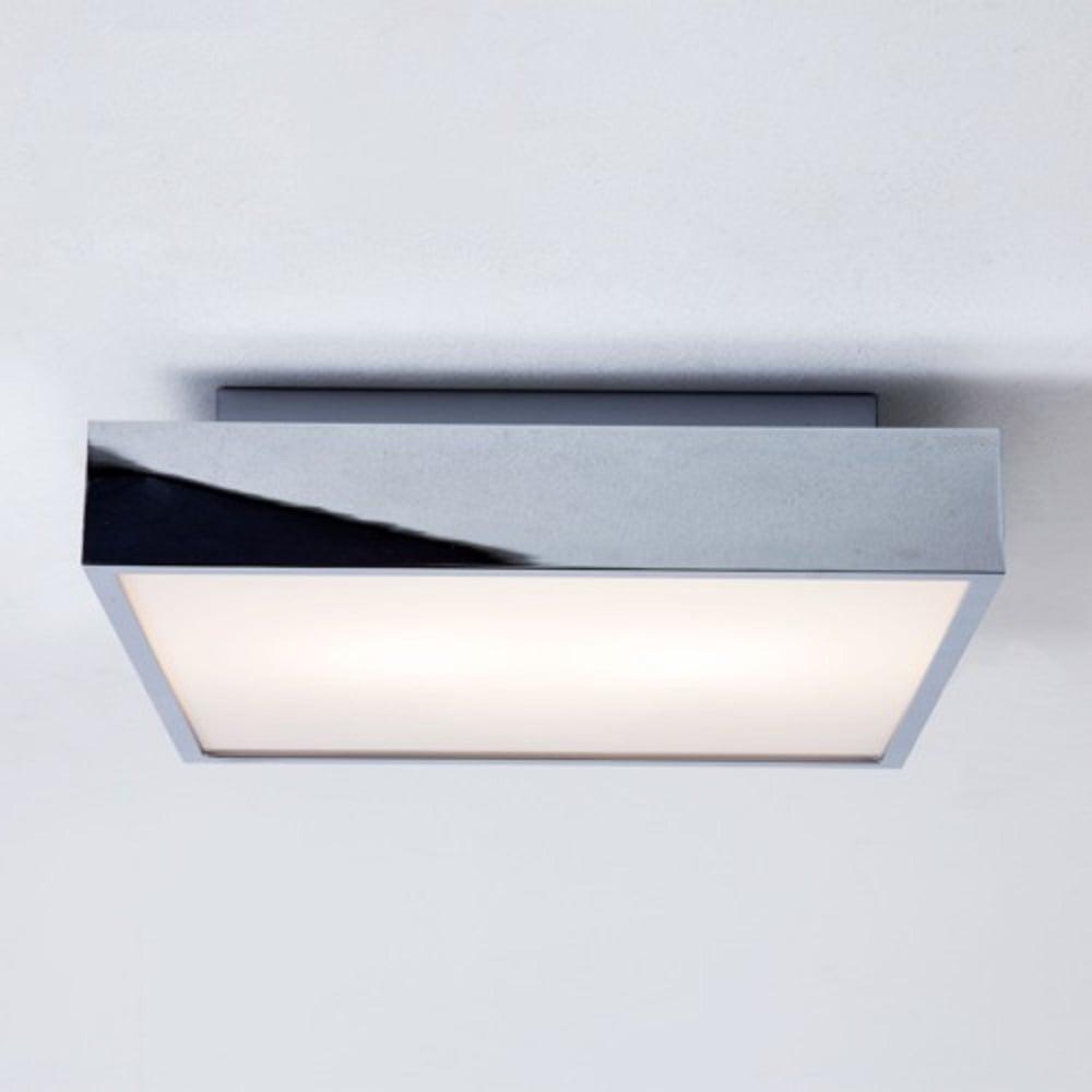 Taketa led square ip44 bathroom ceiling or wall light chrome