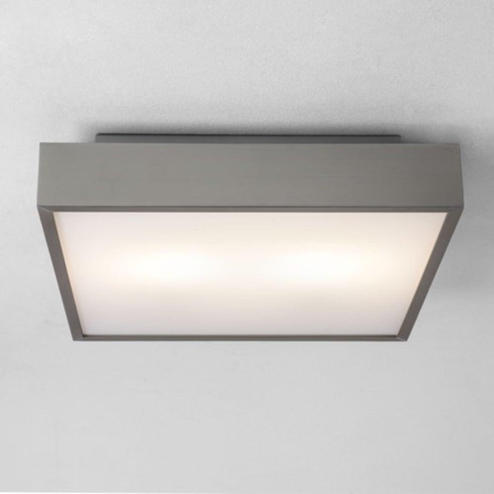 Taketa led square ip44 bathroom ceiling or wall light matt nickel