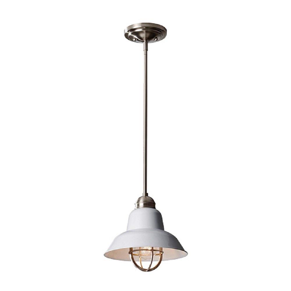 URBAN RENEWAL industrial style mini brushed steel ceiling pendant light