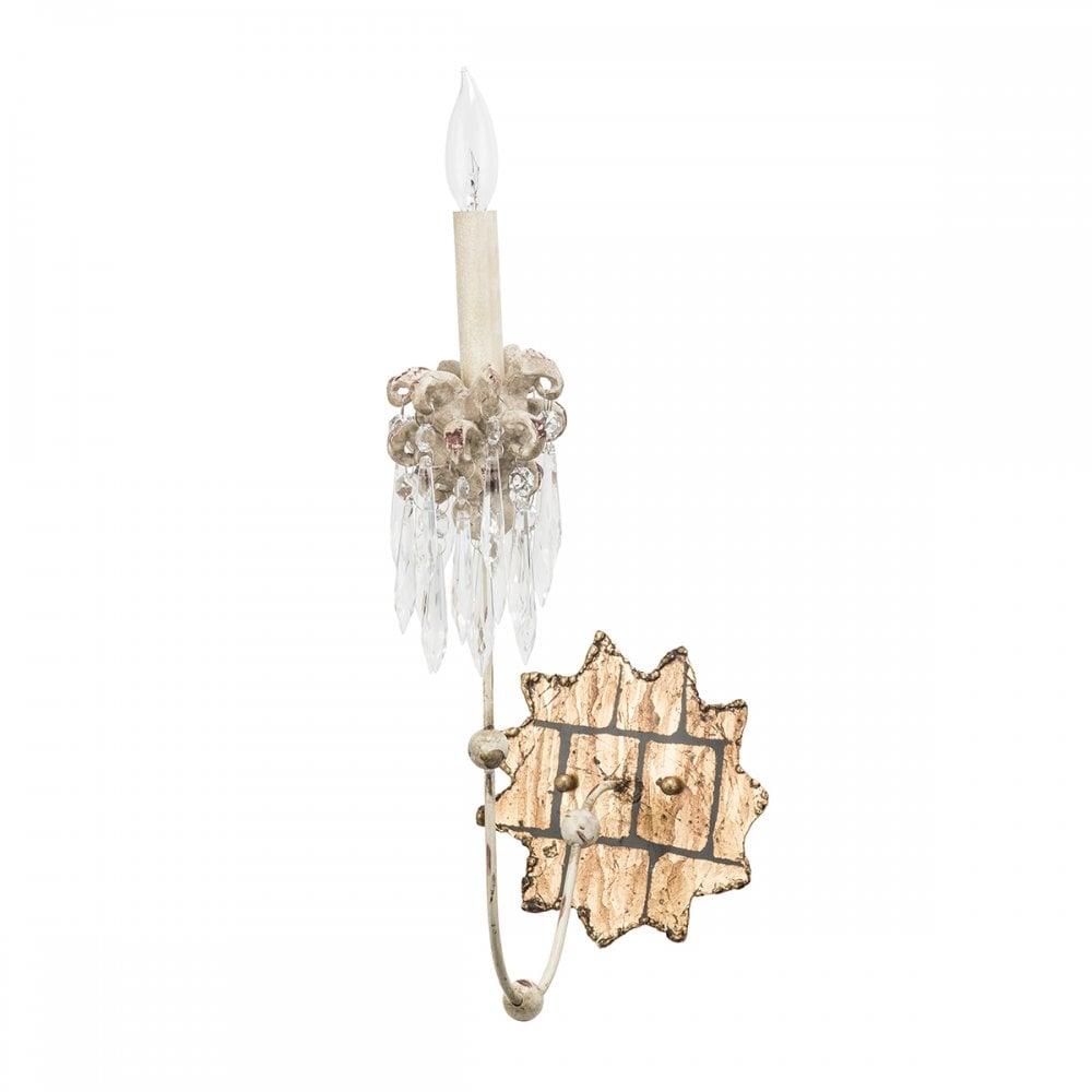VENETIAN elegant shabby chic 3 light chandelier with crystal clusters