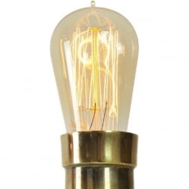 VINTAGE FerroWatt Edison filament bulb with amber glass