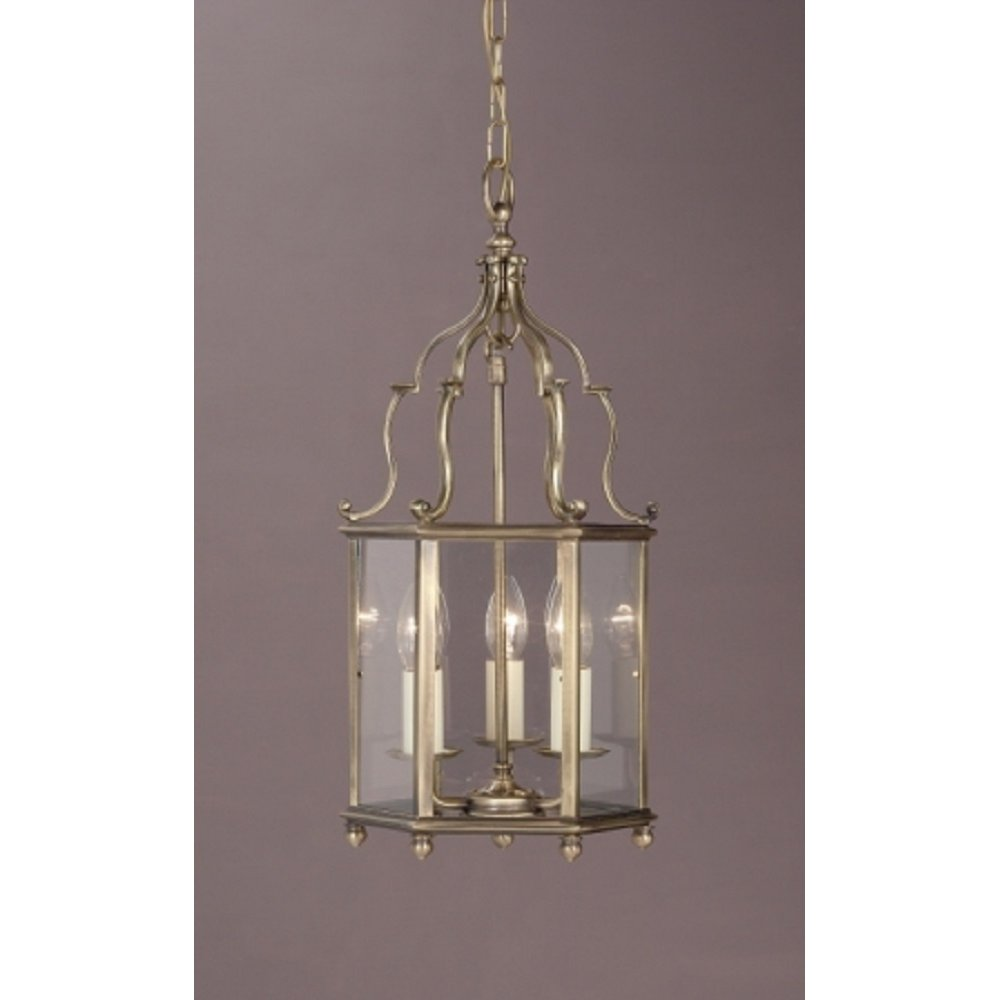 Hotel Foyer Lighting Uk : Solid brass light hall ceiling lantern with an antique