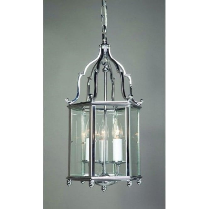 Elegant Georgian Ceiling Lantern In Solid Brass With A