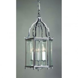 BELGRAVIA Georgian style hall lantern in chrome