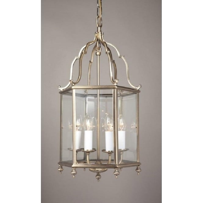 Wellington Collection BELGRAVIA large Georgian style lantern in antique brass