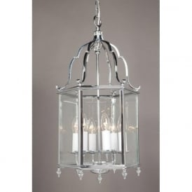 BELGRAVIA traditional chrome hall lantern, large