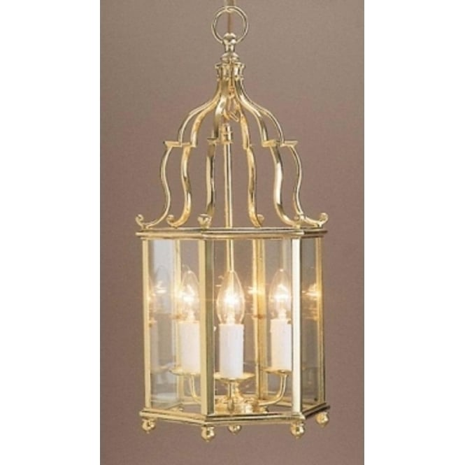 Wellington Collection BELGRAVIA traditional hall lantern in gold polished brass