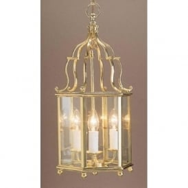 BELGRAVIA traditional hall lantern in gold polished brass