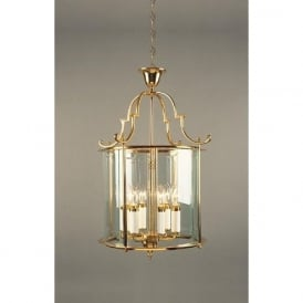 COLCHESTER large gold polished brass ceiling lantern