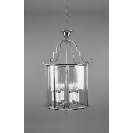 COLCHESTER traditional ceiling lantern in chrome and glass