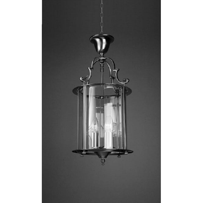 Wellington Collection COLCHESTER traditional chrome hanging hall lantern