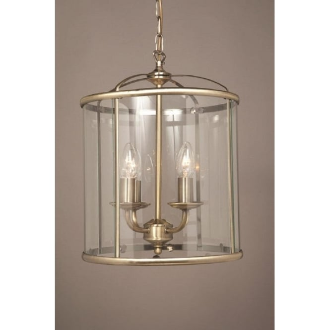 Wellington Collection ORLY antique brass hall lantern with 4 bulbs