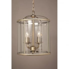 ORLY antique brass hall lantern with 4 bulbs