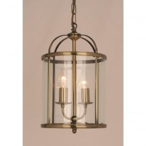 Wellington Collection ORLY small entrance hall lantern, antique brass frame