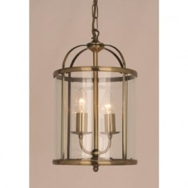 ORLY small entrance hall lantern, antique brass frame