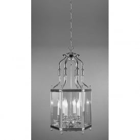 REGAL 6 light chrome hanging ceiling lantern