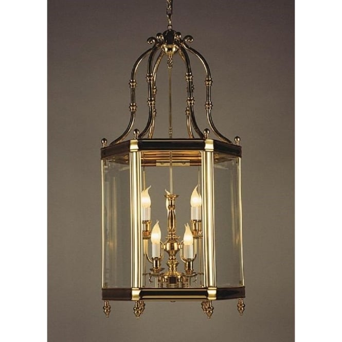 Wellington Collection REGAL large cast brass hall lantern in gold finish