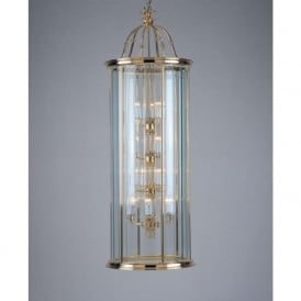 SURREY large cylindrical gold brass traditional hall lantern
