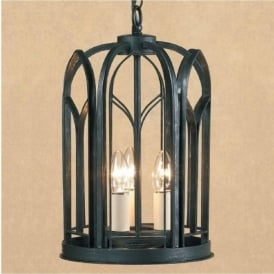 VILLA black wrought iron Gothic hall lantern