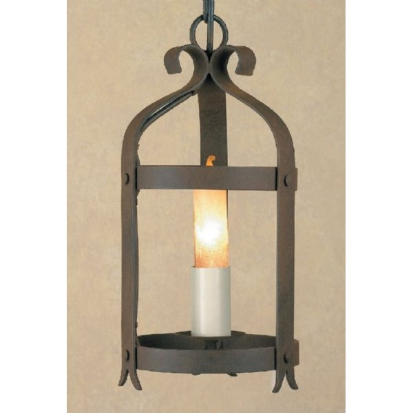 Medieval Style Antique Wrought Iron Hanging Hall Ceiling Lantern