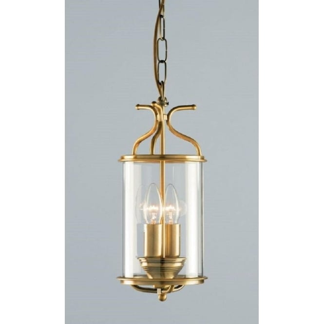 Wellington Collection WINCHESTER circular antique brass hall lantern