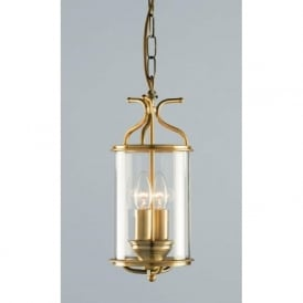 WINCHESTER circular antique brass hall lantern